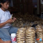 The process of making bamboo craft