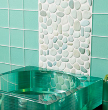 Natural Stone Application Products for Bathroom: Green Flores