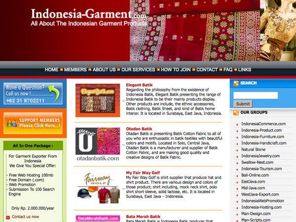 Garment Exporter, Indonesia, Jawa Timur, Surabaya | Indonesia