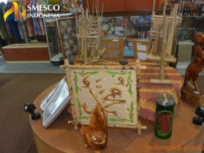 The Variety of Indonesian Handicrafts at SME Tower Jakarta