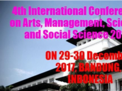 ICAMSSS (International Conference on Arts, Management, Science and Social Science) 2017
