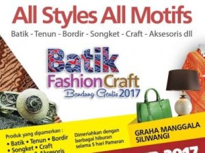Batik Fashion & Craft Bandung Geulis 2017
