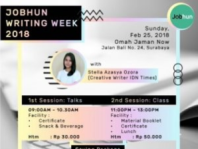 Jobhun Writing Week 2018