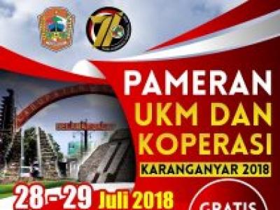 Pameran UKM dan Koperasi Karanganyar 2018