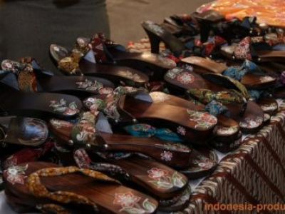 Wooden Slippers As Indonesian Glazed Sandals
