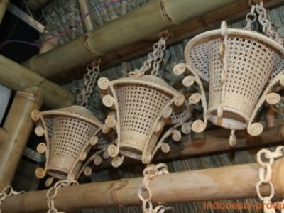 Various Ornaments And Crafts From Bamboo Materials